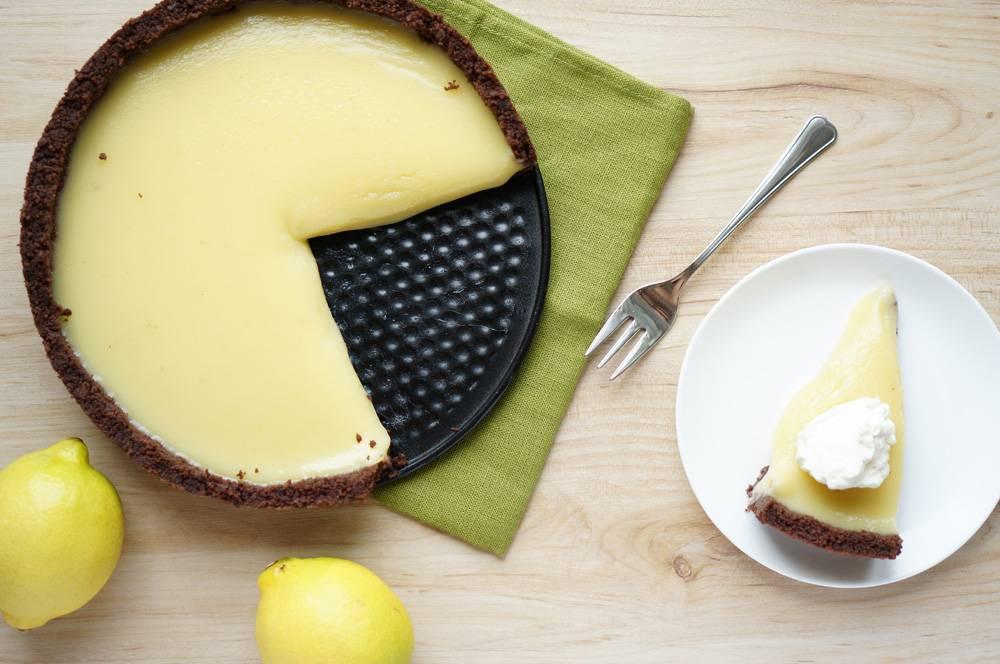 Пирог с лимонным курдом рецепт с