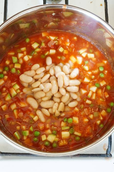Минестроне, пошаговый фото рецепт супа, итальянская кухня