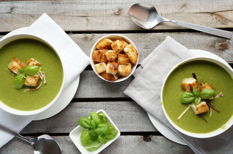 красивая подача супов фото один