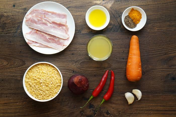 Суп с чечевицей, беконом и специями от Джейми Оливера, пошаговый фото рецепт, кулинарный блог