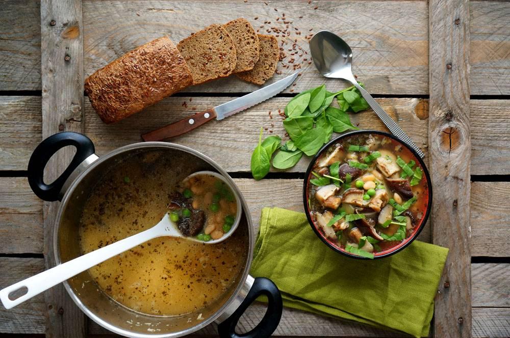 Грибной суп с фасолью, пошаговый фото рецепт, кулинарный блог