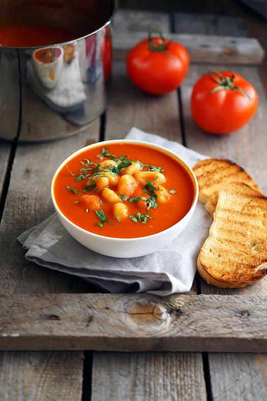 томатный суп пюре с кабачками рецепт