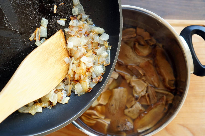 Грибной суп-пюре со сливками, пошаговый фото рецепт, кулинарный блог