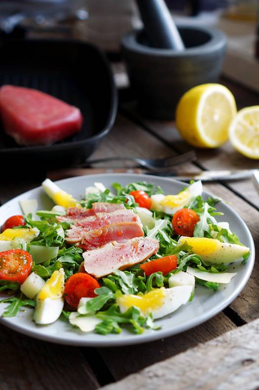 салат с тунцом нисуаз рецепт с фото пошагово