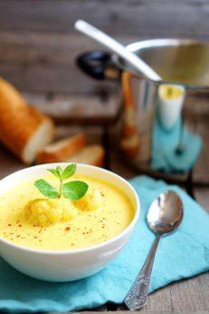 Суп-пюре с шафраном для веганов, пошаговый фото рецепт, кулинарный блог andychef.ru