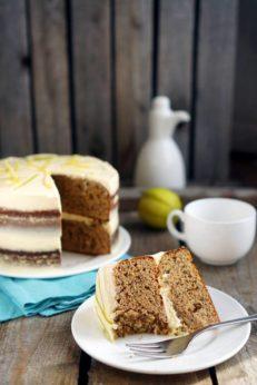 Торт со вкусом чая Эрл Грей, пошаговый фото рецепт, кулинарный блог Andychef.ru