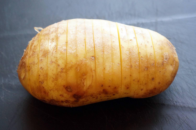 Запеченная картошечка с сыром и беконом, пошаговый фото рецепт, кулинарный блог andychef.ru