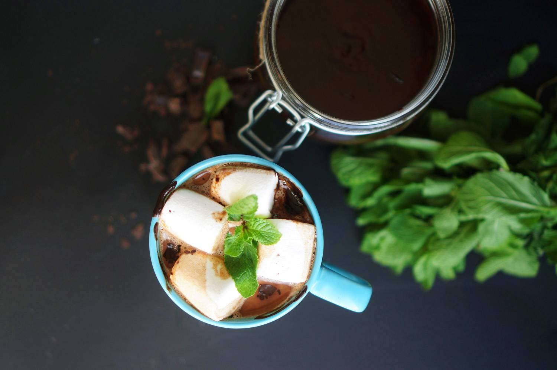 Горячий шоколад с мятным вкусом на каждое утро, пошаговый фото рецепт, кулинарный блог andychef.ru