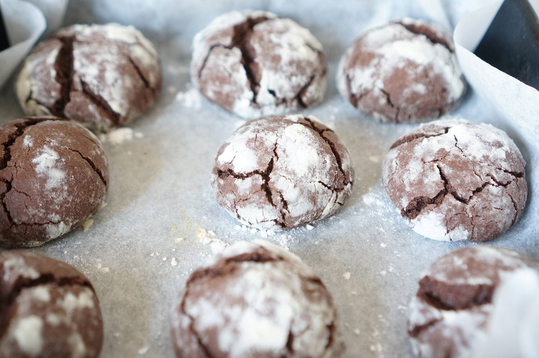 Шоколадные пряники с трещинками, пошаговый фото рецепт, кулинарный блог andychef.ru