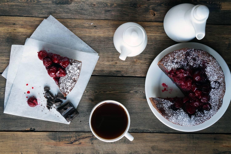 Шоколадный клафути с вишней, пошаговый фото рецепт, кулинарный блог andychef.ru