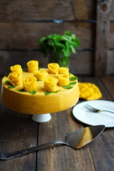 Муссовый торт с манго, огурцами и мятой, пошаговый фото рецепт, кулинарный блог и интернет магазин andychef.ru