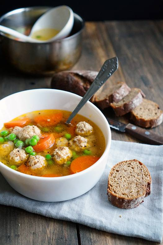 Суп с куриными фрикадельками рецепт пошагово