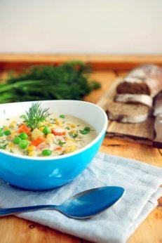 Кукурузный суп Джейми Оливера на молоке, пошаговый фото рецепт, кулинарный блог andychef.ru