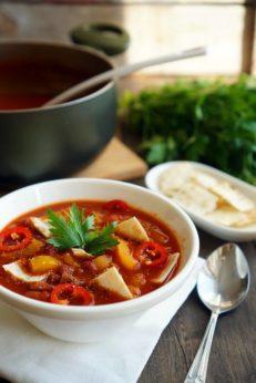 Мексиканский суп с чипсами, пошаговый рецепт с фото, фуд-блог и интернет-магазин andychef.ru