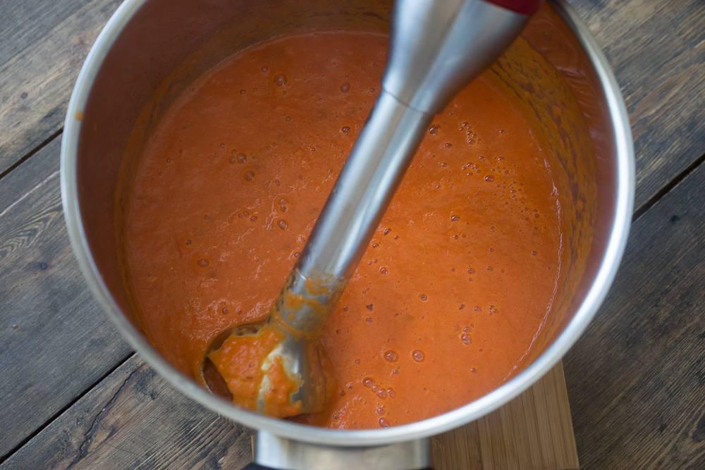 Суп-пюре из запечённых перцев, пошаговый рецепт с фото, блог и интернет-магазин с доставкой по России, andychef.ru