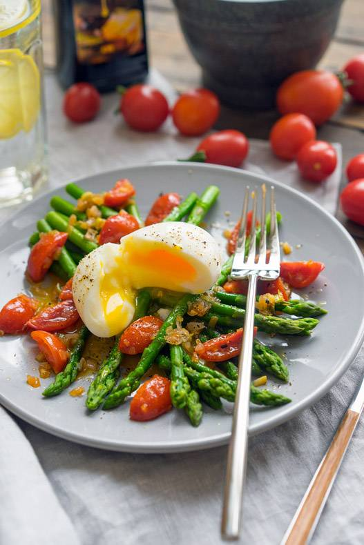 Тёплый салат со спаржей и пряной заправкой, пошаговый рецепт с фото, блог и интернет-магазин andychef.ru