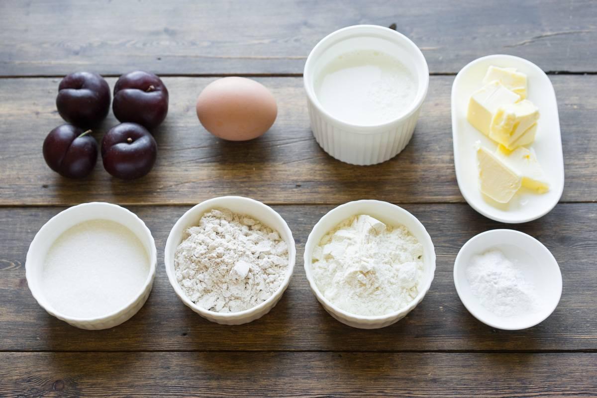 Как приготовить пирог со сливами, пошаговый рецепт с фото, блог и интернет-магазин с доставкой по России, andychef.ru